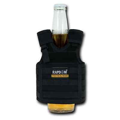 RAPDOM Can Bottle Cooler Beverage Insulator Tactical Vest Beer Soda upto 40oz