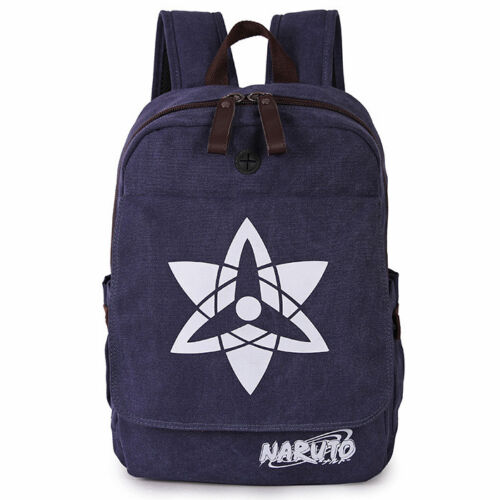 Uchiha Sasuke Mangekyō Sharingan Backpack Canvas Student Bag Cosplay Rucksack