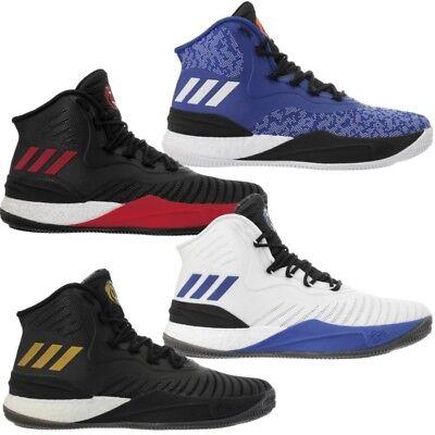 Adidas D Rose 8 Herren Basketballschuhe blau weiß schwarz Air-Mesh atmungsaktiv  ()