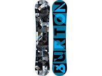 Burton clash Snowboard and step in bindings - as good as new