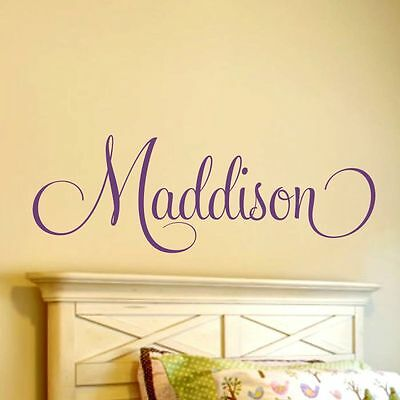 Girls Personalized (Girls Sticker Bedroom Home Decor Personalized Name Vinyl Wall Decal Nursery)