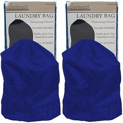 Set Of 2 Heavy Duty Jumbo Sized Nylon Laundry Bag   Blue   Great For College
