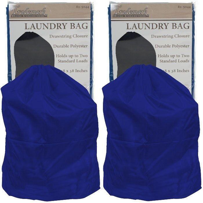 Set of 2 Heavy Duty Jumbo Sized Nylon Laundry Bag - Blue - 8