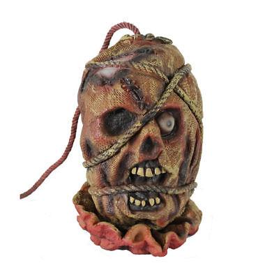 Abgetrennter Kopf mit Seil aus Gummi, gruselige Dekoration für Halloween