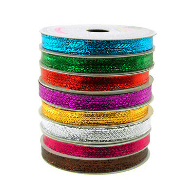 (Solid Metallic Wired Christmas Ribbon, 3/8-Inch, 10 Yards)