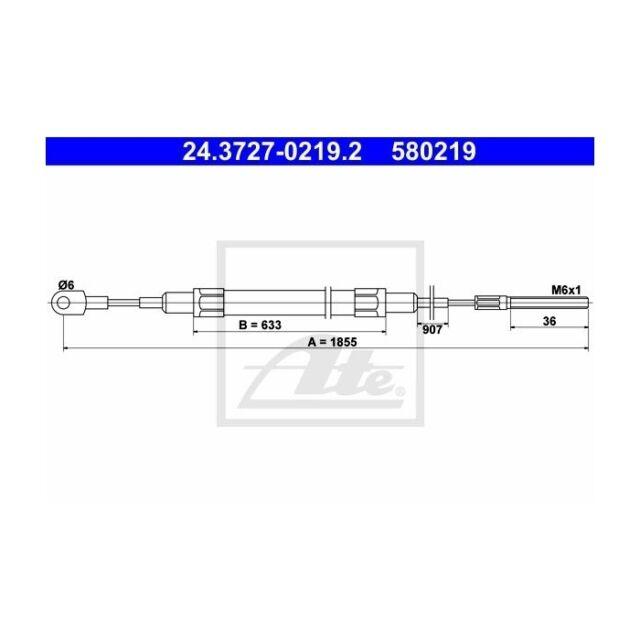ATE 580219 Seilzug, Feststellbremse  24.3727-0219.2 BMW