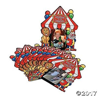 Circus Party Favors (12 Circus Carnival Tent Shaped Photo Booth Picture Cards Birthday Party Favors)