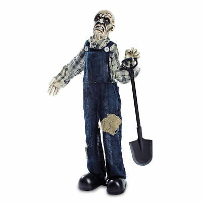 Deko-Figur Totengräber, animiert, 75x40 cm Halloween Party Dekoration