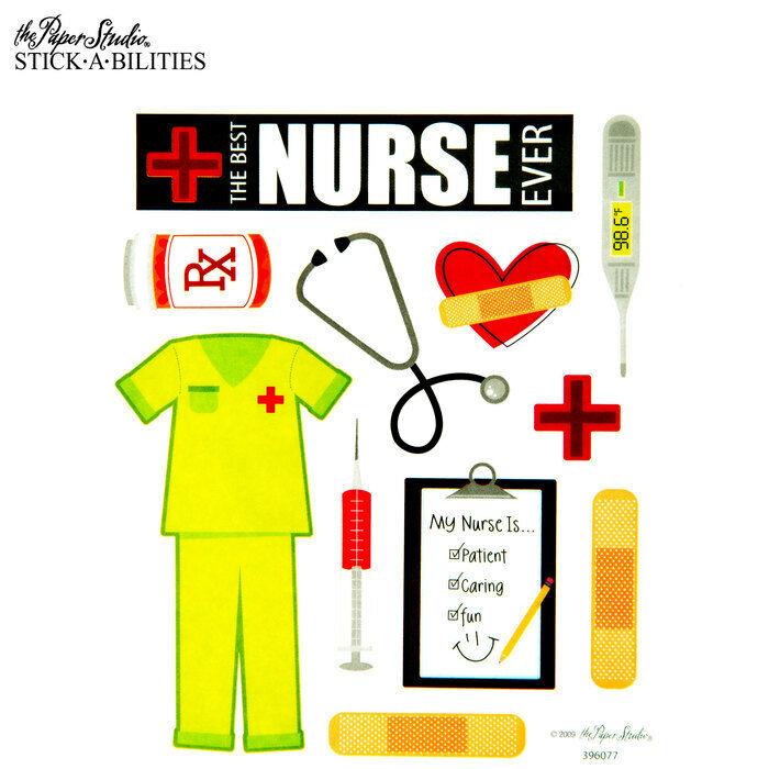 2 Sheets Nurse Medical Planner Stickers Papecraft Envelope S