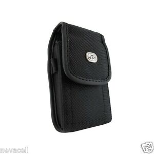 Canvas Case Pouch Holster w Clip for Tracfone Samsung T528g, Keystone 2 E1205L