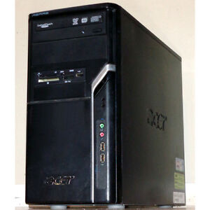 Acer M1640 Desktop PC Core2Duo 3GHz 4GB RAM 160GB HDD DVDRW HDMI