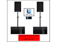 PA Systems Manchester - Hire. - Short notice bookings welcome