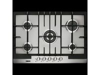 Zanussi ZGG76524XA 75cm Gas Hob in Stainless Steel 5 gas burners by Electrolux