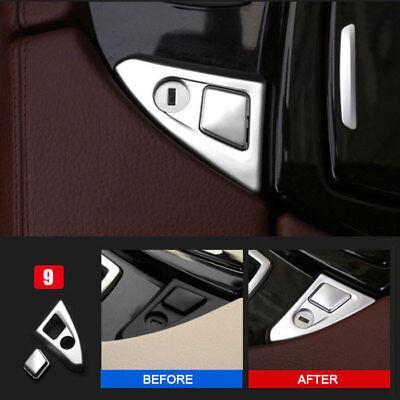 (Car Center Console Panel Armrest Button Trim For BMW 5 Series F10 F18 2011-2017)