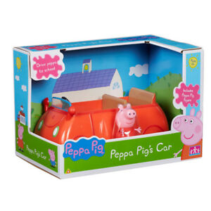 New Peppa Pig Peppa's Family Red Car With Peppa Figure