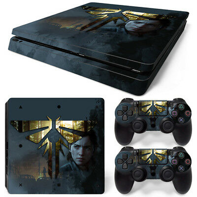PS4 Slim Playstation 4 Console Skin Decal Sticker Last of US 2...