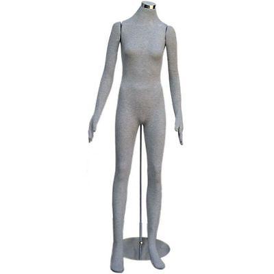 Mn-403 Grey Soft Flexible Bendable Headless Female Body Mannequin Form