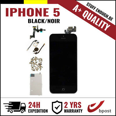 A+ LCD TOUCH SCREEN VITRE TACTILE SCHERM ÉCRAN ASSEMBLY BLACK NOIR FOR IPHONE 5