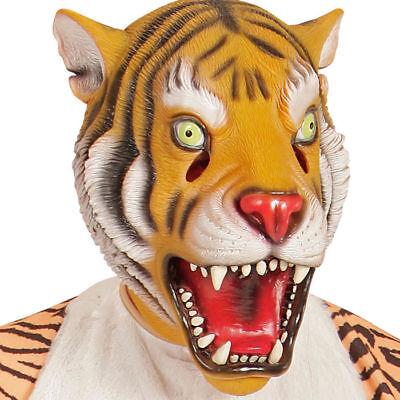 NEU Vollmaske Tiger, Latex Tigermaske