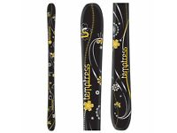 Salomon Temptress Skis + Poles