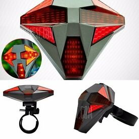 Wireless Remote Control USB Rechargeable directional LED Bike Tail Light