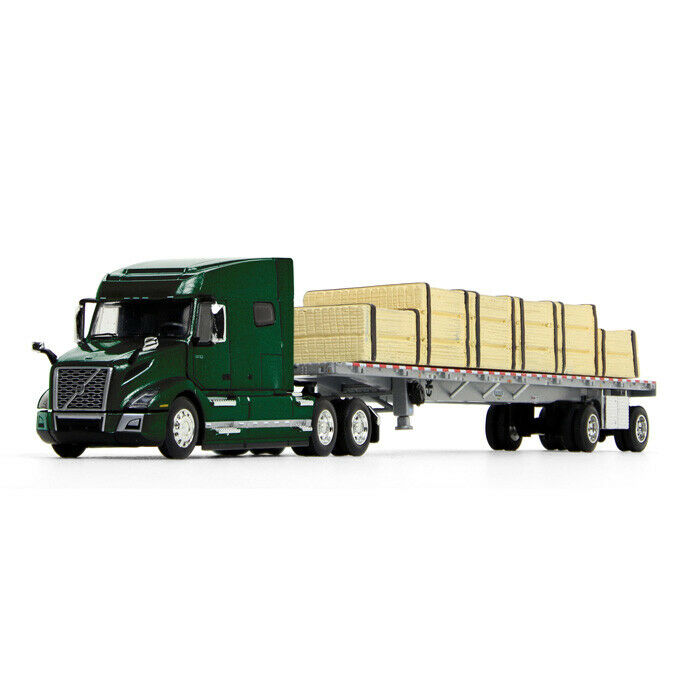60-0641 - 1:64 - 1st Gear DCP Volvo VNL 760 with flatbed and lumber load