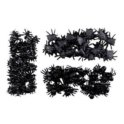 NEU Deko Spinnen, Ameisen und Fliegen, 100 Stück ()