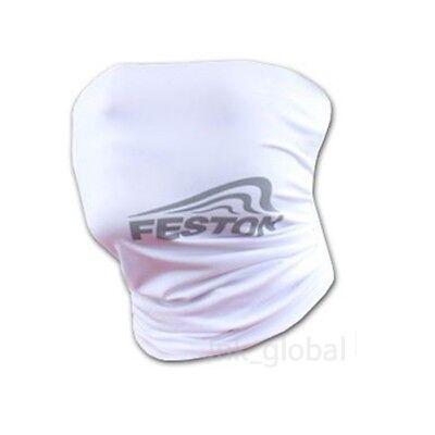 [FESTON] Cool UV Sun Protection Mask Neck Headband Banada Bike Cycling (White)