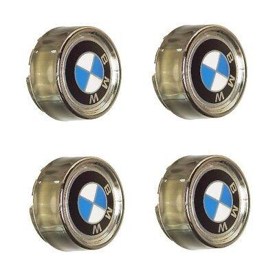 Wheel Center Caps with Emblem 6 x 14 x 4 OES Genuine for BMW E10 E30