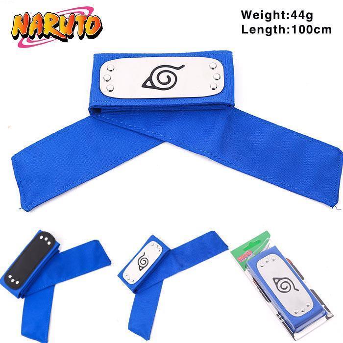 Anime Naruto Leaf Village Ninja Headband Kakashi Sasuke Headbands Cosplay Blue