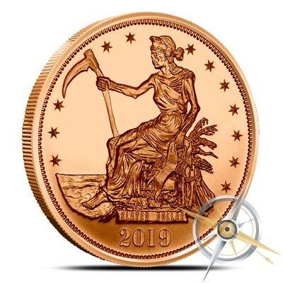 1 oz Copper Round - Slayed Dollar Zombucks