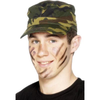 Mütze Soldat, Armeemütze Camouflage, Armycap Kostümzubehör - Soldat Kostüm Zubehör