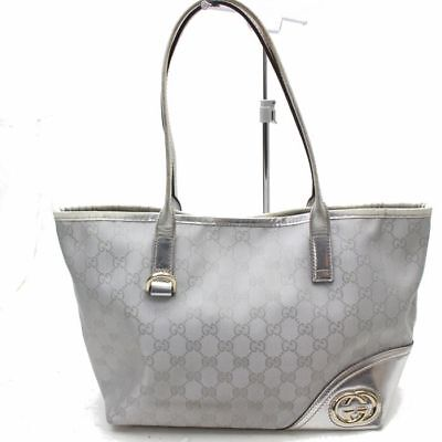GUCCI AUTHENTIQUE - Tote Bag Sac à main Argenté