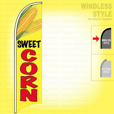 Sweet Corn Windless Swooper Flag 2.5x11.5 Feather Banner Sign Yb