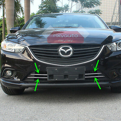 New 4pcs Chrome Front Lower Grille Fender Trim For Mazda 6 Atenza 2014 2015