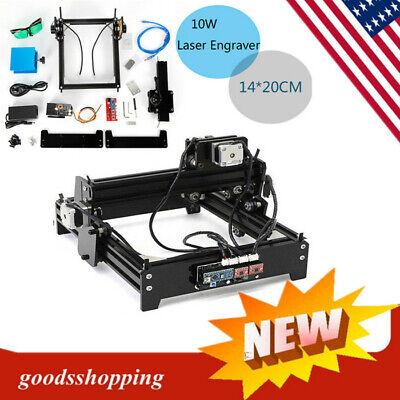 10w Laser Engraver Engraving Machine Cnc Usb Desktop Metal Stone Printer Cutter