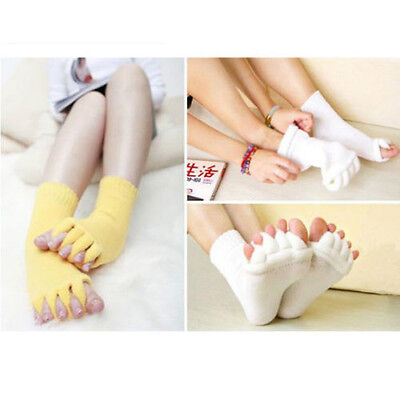 Toes Foot Alignment Socks Relief for bunions hammer toes cramps happy (Happy Feet Socks)