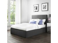 Brand New Safina Kingsize Ottoman Bed in Charcoal Grey Fabric