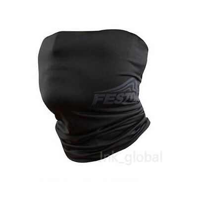 [FESTON] Cool UV Sun Protection Mask Neck Headband Banada Bike Cycling (Black)