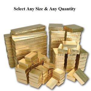 LOT-OF-20-50-100-GOLD-COTTON-FILLED-BOX-MIXED-SIZE-GOLD-JEWELRY-BOXES-GIFT-BOXES