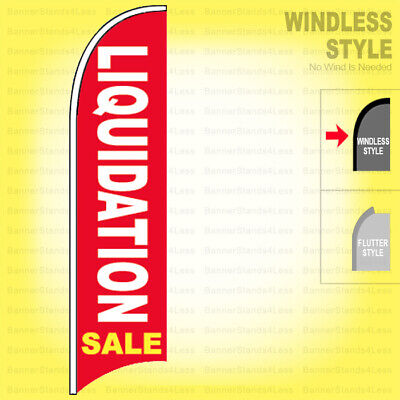 Liquidation Sale - Windless Swooper Flag 2x11.5 Ft Feather Banner Sign Rb
