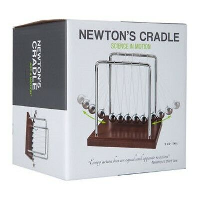 Newtons Cradle Office Desk Toy Kenetic Gravity Balance Balls Wood No 1 Choice