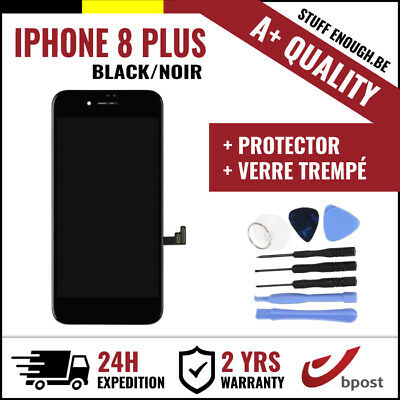 A+ LCD TOUCH SCREEN/SCHERM/ÉCRAN BLACK NOIR +VERRE TREMPÉ+TOOL FOR IPHONE 8 PLUS