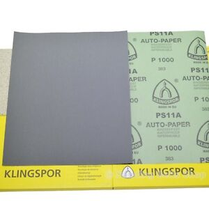 WET AND DRY SANDPAPER MIXED GRIT PACK OF 10 FREE p&p
