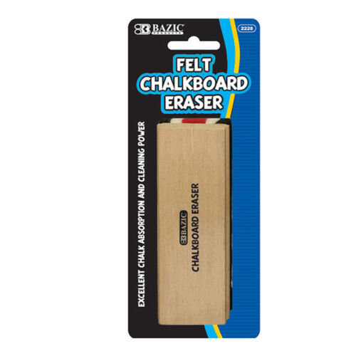 Felt Chalkboard Eraser Excellent Chalk Absorption with Durable Wood Handle