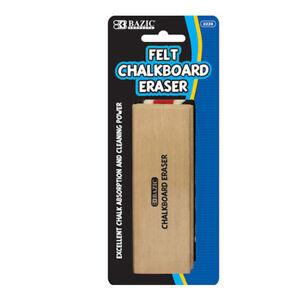 Felt Chalkboard Eraser Excellent Chalk Absorption with Durable Wood Handle