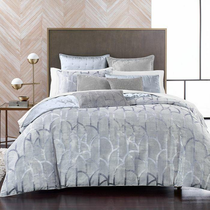 NEW Hudson Park Artistry Blue KING Duvet Cover Bedding
