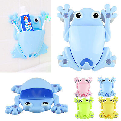 Unique Cute Frog Toothbrush Makeup Wall Stick Paste Organizer Holder Hook  sy