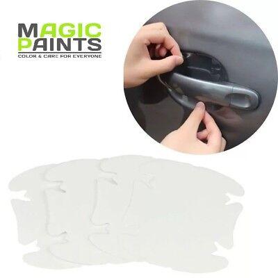 Türgriff Mulden Schutz Folie transparent, 4 teilig, Universal Lackschutz Folie