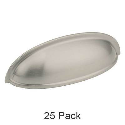 25 Pack of Brushed Satin Nickel Cabinet Hardware Bin Cup Drawer Pull Handles